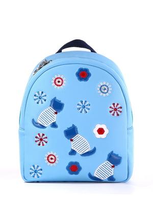 Рюкзак голубой с рисунком   5641179