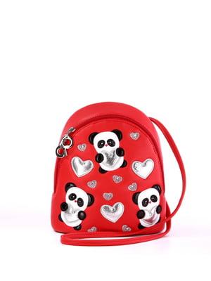 Рюкзак красный с рисунком | 5641181