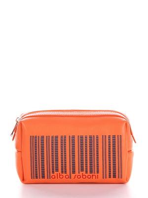 Косметичка морковного цвета с рисунком | 5641211