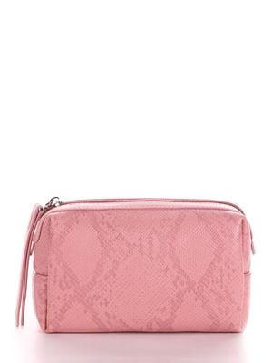 Косметичка розовая с анималистическим узором | 5641219