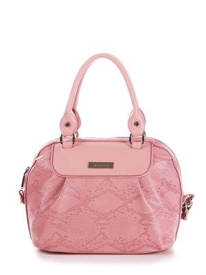 Сумка рожева з анімалістичним візерунком | 5641279
