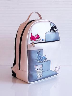 Рюкзак перлового кольору з малюнком | 5641294
