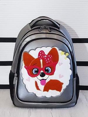 Рюкзак нікелевого кольору з малюнком | 5641307