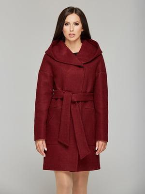 Пальто бордовое | 5645382