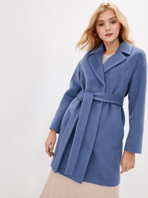 Пальто блакитного кольору | 5645439