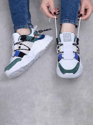 Кросівки біло-зелені | 5644093