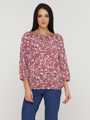 Блуза розовая в принт   5641575