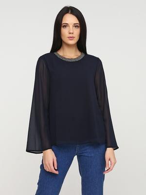 Блуза темно-синяя | 5641586