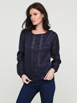 Блуза темно-синя | 5641599