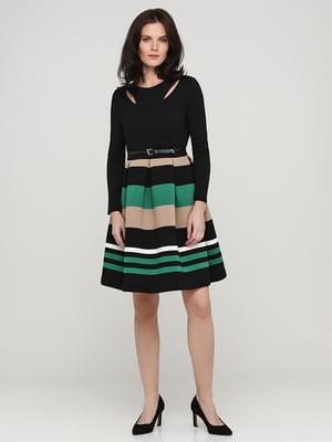 Платье черное в полоску | 5641720