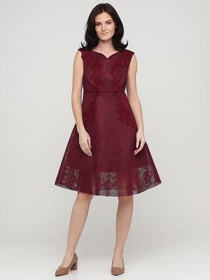Платье бордовое | 5641733