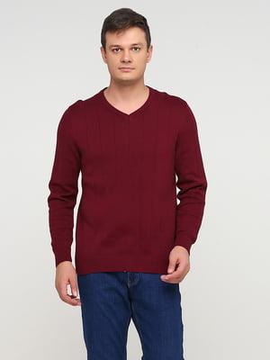Пуловер бордовый | 5641771