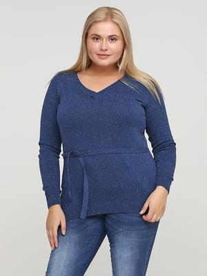 Пуловер синій | 5641785