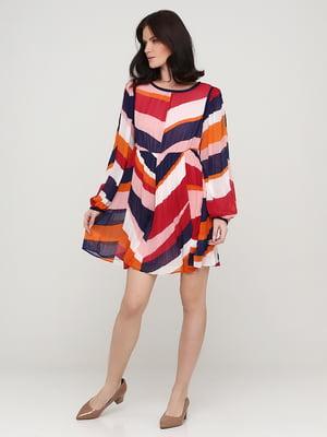 Платье разноцветное в полоску | 5641717