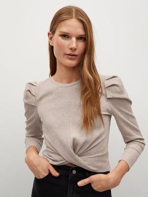 Блуза-топ кофейного цвета | 5646830