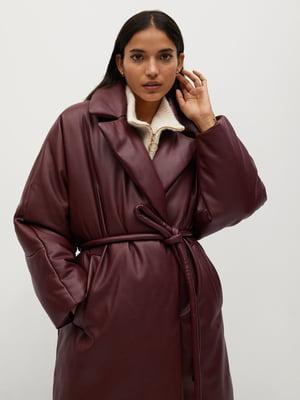 Пальто вишневого кольору | 5646943