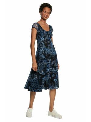 Сукня синя в принт   5636015