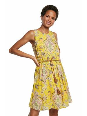 Сукня жовта в принт   5636023