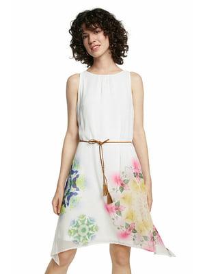 Сукня біла в квітковий принт   5636024