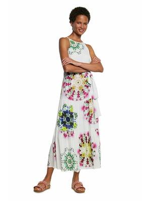 Сукня біла в квітковий принт   5636025