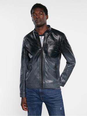 Куртка черно-синяя | 5636037