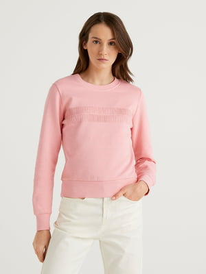 Світшот рожевий в принт | 5636135