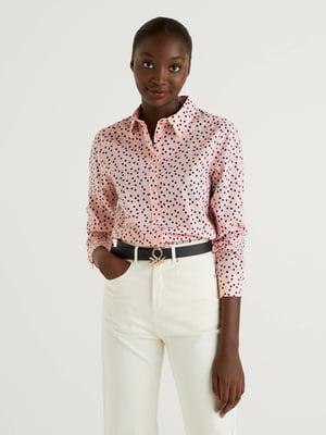 Рубашка розового цвета в горошек | 5636159