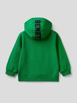 Худи зеленая в принт | 5640988
