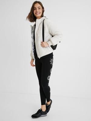 Куртка біла з логотипом   5647114