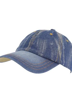 Бейсболка синяя джинсовая | 5633607