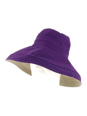 Капелюх двосторонній фіолетовий | 5633696