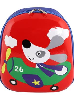 Рюкзак червоно-синій з малюнком   5634137
