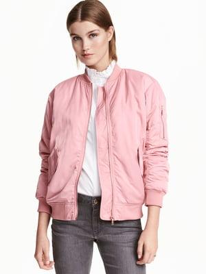 Бомбер рожевий | 5641889