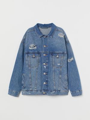 Куртка синя джинсова | 5641927
