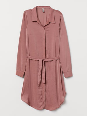Платье-рубашка темно-розовое | 5642392