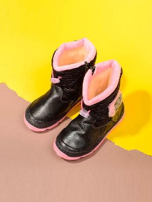 Сапоги черно-розового цвета | 5648482