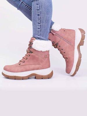 Ботинки розового цвета | 5650314