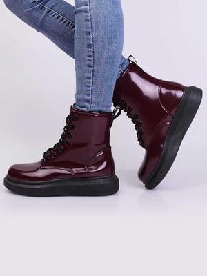 Ботинки бордовые | 5650317