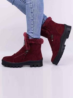 Ботинки бордовые | 5650538