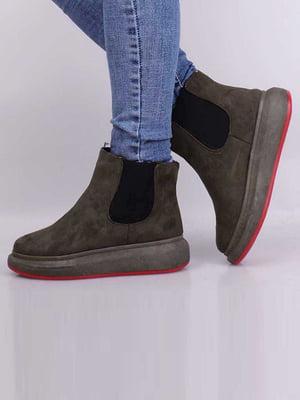 Ботинки цвета хаки | 5650620