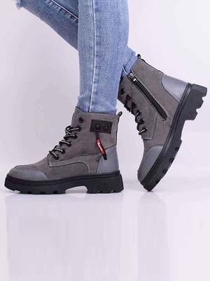 Ботинки серые | 5650625