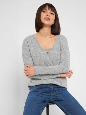 Пуловер серый | 5647171