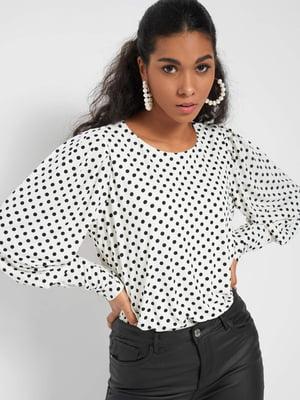 Блуза біла в горох | 5647172