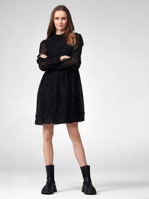 Платье черное в горох | 5647199