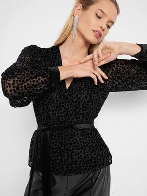 Блуза чорна в горох | 5647280