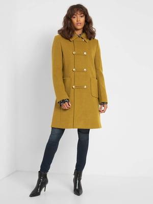 Пальто гірчичного кольору   5647313
