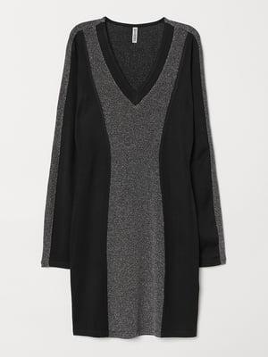 Платье черно-серебристое | 5651970