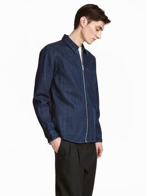 Куртка-рубашка синяя джинсовая | 5651978