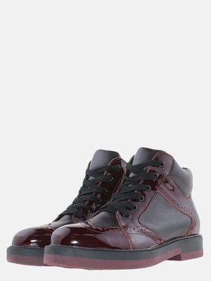 Ботинки бордовые | 5651645
