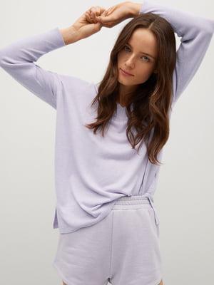 Пуловер бузкового кольору | 5647442